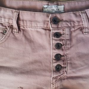 Free People Shorts - Free People button fly distressed shorts